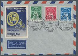 Berlin: 1949, Währungsgeschädigtensatz 3 Werte Komplett Mit Ausgabetypischer Zähnung Entwertet Mit S - Briefe U. Dokumente