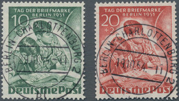 """Berlin: 1951, Tag Der Briefmarke, Beide Werte Mit Herrlichem, Zentrischen Vollstempel """"BERLIN-CHARLO - Gebraucht"""
