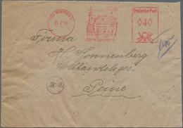 Bizone: 1948, 22.6. 40 Pf. Absender-Frei-Stempel Bremen 1 Als 4 Pf. Auf Brief M.rs. 4mal 50 Pf. Leip - Bizone