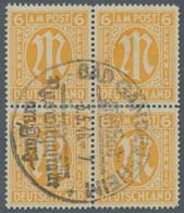 Bizone: 1945, 6 Pfennig Englischer Druck In Der Zähnungsvariante 14 3/4:14 1/2 Im Gefaltetem Und Unt - Bizone