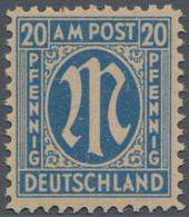 Bizone: 1945, AM-Post Deutscher Druck, 20 Pfg. Als Probedruck Auf Graustichigem Gummiertem Papier, D - Bizone