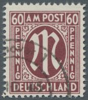 Bizone: 1945, 60 Pfennig (dunkel)karminbraun Deutscher Druck In Der Zähnungsvariante 11:11 1/2 Mit P - Bizone