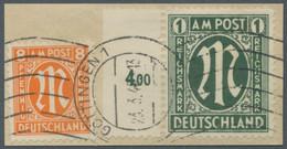 Bizone: 1946, 1 Reichsmark Deutscher Druck In Der Zähnungsvariante 11:11 1/2 Vom Linken Seitenrand E - Bizone
