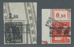 Bizone: 1948, Bandaufdruck 8 Pfennig Postfrisch Mit Einem Normalem Und Einem Diagonalem Aufdruck Aus - Bizone