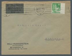 Bizone: 1948, Bauten 10 Pfennig Dunkelgelblichgrün Rechts Ungezähnt Vom Rechten Seitenrand Als Einze - Bizone