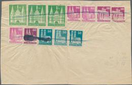 Bizone: 1952, POSTBETRUG: Internes Verrechnungsformular über 9,40 DM Frankiert Mit Marken Der Bauten - Bizone