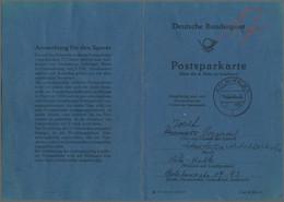 Bundesrepublik Deutschland: 13.6.1953, POSTSPARKARTE Mit Inseitig 22 X 10 Pf. (dabei Sechserblock Un - Briefe U. Dokumente