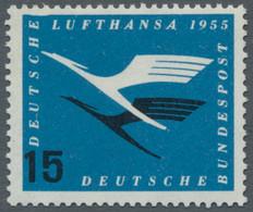 Bundesrepublik Deutschland: 1955, Lufthansa, 15 Pfg., Postfrisches Exemplar Mit Markantem Plattenfeh - Ungebraucht