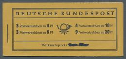 """Bundesrepublik - Markenheftchen: 1951, """"Posthorn""""-Markenheftchen Mit Vorderseitig Durchgestrichenem - Markenheftchen"""