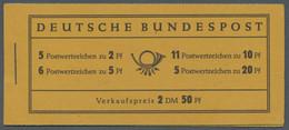 """Bundesrepublik - Markenheftchen: 1955, Heuss, Markenheftchen Zu 2,50 DM Mit Reklame """"Pelikan Für Jed - Markenheftchen"""