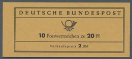 Bundesrepublik - Markenheftchen: 1963, Bach 20 Pfg., Markenheftchen Zu 2 DM Mit Dickem Deckel, Links - Markenheftchen