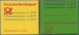 Bundesrepublik - Markenheftchen: 1980/1982. Burgen Und Schlösser #22 Und #25: Je 3 Stück Mit Verscho - Markenheftchen