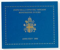 Vatikan: 2002, Euro-Kursmünzensatz Von 1 Cent Bis 2 Euro In Stempelglanz. - Vatikan
