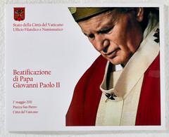 """Vatikan: 2011, Sondermappe Zur Seligsprechung Von """"Papst Johannes Paul II."""" Mit Coin-Card No.1 Mit E - Vatikan"""