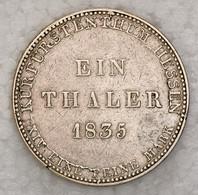 """Hessen-Kassel: 1835, """"Wilhelm II./Friedrich Wilhelm"""" 1 Thaler In Sehr Schöner Erhaltung. - Ohne Zuordnung"""