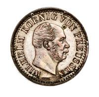 """Preußen: 1872, """"Wilhelm I."""" 1/2 Silbergroschen In Stempelglanzerhaltung. - Ohne Zuordnung"""