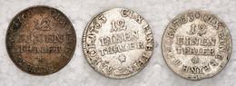 """Sachsen: 1763, """"Friedrich August III."""" Partie Von 3 Stück Der 1/12 Thaler-Münzen In Sehr Schöner Erh - Ohne Zuordnung"""