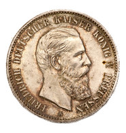 """Preußen: 1888, """"Friedrich III."""" 2 Mark (Jaeger Nr. 98) Aus 900er Silber In Vorzüglicher Erhaltung (f - Taler & Doppeltaler"""