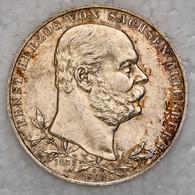"""Sachsen-Altenburg: 1903, """"Ernst"""" 5 Mark Aus 900er Silber In Sehr Schöner Erhaltung. - Taler & Doppeltaler"""