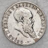 Sachsen-Meiningen: 1901-1908, Partie Von Zwei 5 Mark-Stücken Aus 900er Silber Mit 1901 Und 1908 Jewe - Taler & Doppeltaler