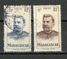 MADAGASCAR (RF) : JOFFRE - Yvert N° 316 + 317 Obli - Used Stamps