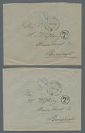 Deutsche Besetzung I. WK: Rumänien - Portomarken: 1918, Partie Von 7 Unfrankierten Briefen Bei Denen - Besetzungen 1914-18