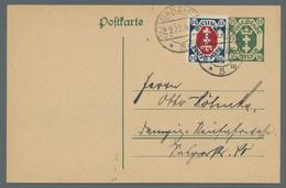 Danzig: 1921-1940, Partie Von 4 Belegen Mit Mi.Nr.75 Als Einzelfrankatur Auf Ortskarte, Mi.Nr.103 Al - Danzig