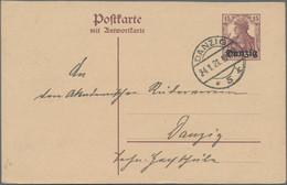 Danzig - Ganzsachen: 1920/1939, Partie Von 16 Gebrauchten Ganzsachen, Fast Alle Bedarfsgebraucht Mit - Danzig
