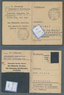 Alliierte Besetzung - Ganzsachen Behelf: Britische Zone: 1945, Partie Von 8 Gelaufenen Und 2 Ungebra - Bizone
