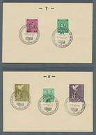 Alliierte Besetzung - Gemeinschaftsausgabe: 1948, Partie Von 37 Karten Mit Sonderstempeln, Davon 29 - Gemeinschaftsausgaben