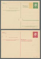 Bundesrepublik - Ganzsachen: 1949-1967, Partie Von über 80 Gebrauchten Und Ungebrauchten Ganzsachen - Ohne Zuordnung
