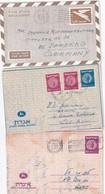 ISRAEL   ENTIER POSTAL/GANZSACHE/POSTAL STATIONERY LOT DE 3 ENVELOPPES - Briefe U. Dokumente