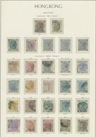 Hongkong: 1862-1931, Gestempelte Sammlung Ab Der Klassik Auf Albumseiten Mit U.a. Diversen Mittleren - Ohne Zuordnung