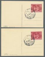 """Ansichtskarten: Propaganda: 1939-1944, Partie Mit 4 Schwarzweißen Propagandakarten, 2 Karten Zum """"Ta - Political Parties & Elections"""