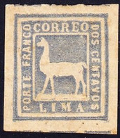 1873  2centavos, Lama Ungestempelt. Mi Nr. 18 - Peru