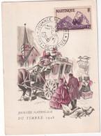 MARTINIQUE 1948 CARTE JOURNEE DU TIMBRE DE FORT DE FRANCE - Briefe U. Dokumente