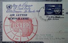 H 18 Lettre Antartique états Unis Aérogramme 1958 - Zonder Classificatie