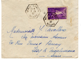 N°309 - Aide Aux Réfugiés-- Seul Sur Lettre - Briefe U. Dokumente
