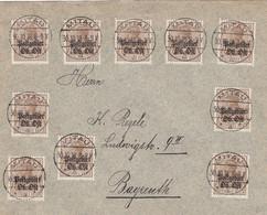 Deutsches Reich Postgebiet Ost Brief 1918 - Besetzungen 1914-18
