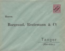 Deutsches Reich Privat Umschlag Marokko 1895 - Deutsche Post In Marokko