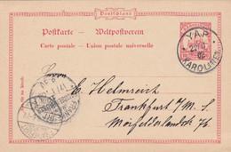 Deutsches Reich Kolonien Karolinen Postkarte 1902 - Kolonie: Karolinen