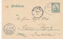 Deutsches Reich Kolonien DOA Postkarte 1907 - Kolonie: Deutsch-Ostafrika