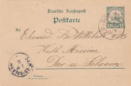 Deutsches Reich Kolonien DOA Postkarte 1902 - Kolonie: Deutsch-Ostafrika