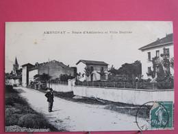 01 - Ambronay - Route D'Ambérieu Et Villa Désirée - R/verso - Andere Gemeenten