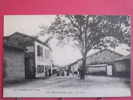 Visuel Très Peu Courant - 01 - Reyssouze - La Place - Animée - 1917 - R/verso - Andere Gemeenten