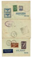 Hong Kong, 1937 Air France, Hong Kong-Natal-New York-Paris - Briefe U. Dokumente