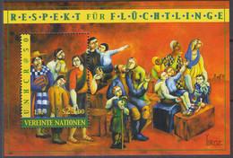UNO WIEN  Block 14, Postfrisch **, 50 Jahre UNHCR, 2000 - Blocks & Kleinbögen