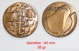 Médaille De Table_Militaria_FNC-NSB_50e Anniversaire Armistice 1919-1969_WW1-WW2_21-08 - Belgien