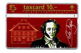 """Carte Téléphonique TAXCARD 10 """"Jeremias Gotthelf 1797-1854"""" - Thème Personnages Célèbres - Schweiz"""
