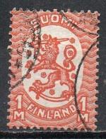Finlandia, 1925/29 - 1m Arms Of The Republic - Nr.134 Usato° - Gebraucht